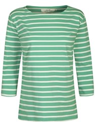 Seasalt Sailor 3 4 Sleeve Jersey Top Palm Ecru