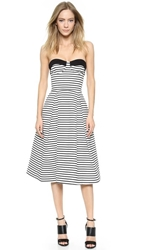 Nicholas Breton Stripe Ball Dress White Black