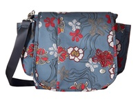Haiku To Go Convertible River Floral Print Handbags Blue