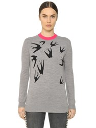 Mcq By Alexander Mcqueen Swallow Wool Jacquard Sweater
