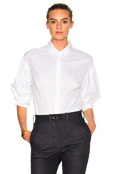 3.1 Phillip Lim Push Up Sleeve Top In White