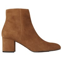 Whistles Logan Block Heeled Ankle Boots Tan