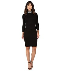 Calvin Klein Long Sleeve Sweater With Pearl Beading Cd6w1y7j Black Women's Dress