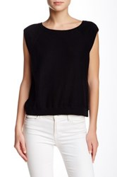 Inhabit Crew Neck Cap Sleeve Tee Black