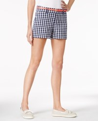 Maison Jules Maddie Easy Gingham Shorts Only At Macy's Blu Notte Combo
