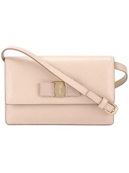 Salvatore Ferragamo 'Vara' Crossbody Bag Nude Neutrals