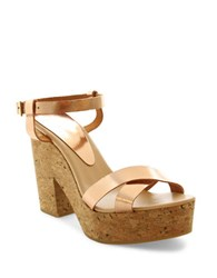 Andre Assous Finnley Leather Platform Sandals Pink