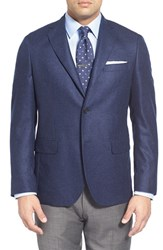 Men's Big And Tall John W. Nordstrom Classic Fit Solid Cashmere Sport Coat Mid Blue