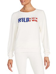 Wildfox Couture American Fox Bbj Sweatshirt Vintage Lace