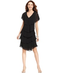 Patra Petite Tiered Dress Black