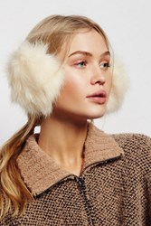 Free People Womens Alpine Faux Fur Earmuffs