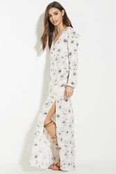 Forever 21 High Slit Floral Maxi Dress
