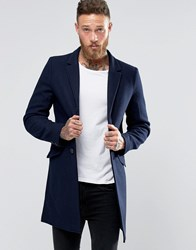 Only And Sons Overcoat Navy