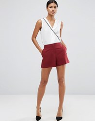 Asos Tailored A Line Shorts Wine