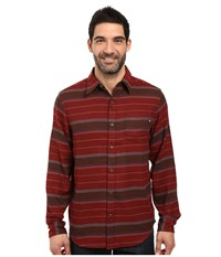 Marmot Enfield Flannel Long Sleeve Shirt Marsala Brown Heather Men's Clothing Red