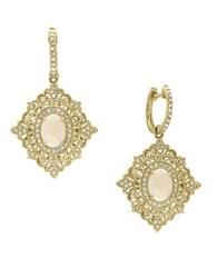 Effy Aurora 14K Rose Gold Opal And Diamonds Earring Yellow Gold