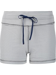 The Upside Striped Shorts Grey