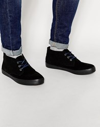 New Look Faux Suede Boots In Black