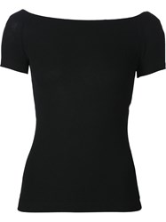 Getting Back To Square One Off The Shoulder T Shirt Black