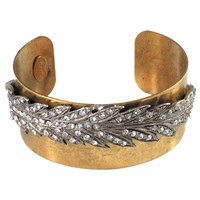 Miss Ellie Feather Cuff Bracelet Gold