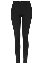 Topshop High Waist Button Up Leggings Black