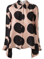 Stella Mccartney Large Polka Dot Blouse Pink And Purple