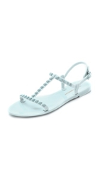 Rebecca Minkoff Sava T Strap Jelly Sandals Blue