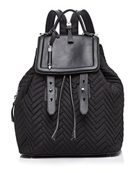 Mackage Tanner Nylon Quilted Backpack Black Shiny Nickel