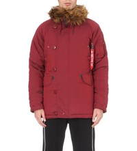 Alpha Explorer Shell Parka Coat Burgundy