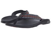 Chaco Flip Ecotread Links Orange Men's Sandals Black