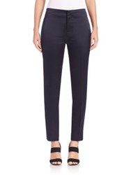Ms. Min Satin Tuxedo Stripe Pants Navy