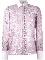 Valentino Lace Shirt Pink Purple