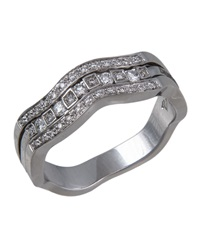 Damiani Belle Epoque Diamond Channel Ring Size 7.5