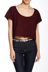 American Apparel Loose Crop Top Red