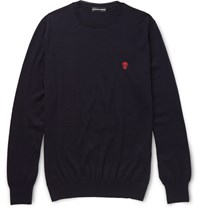 Alexander Mcqueen Slim Fit Cashmere Sweater Blue