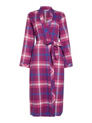 Cyberjammies Magenta Check Long Robe Purple