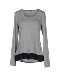 Kaos Topwear T Shirts Women Light Grey