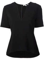 A.L.C. V Neck Blouse Black