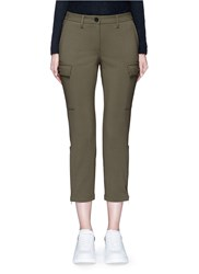 Alexander Mcqueen Stretch Wool Military Pants Green