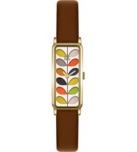 Orla Kiely Rectangular Leather Watch Mixed