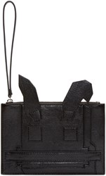 Mcq By Alexander Mcqueen Black Electro Bunny Pouch