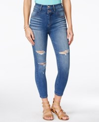 Body Sculpt By Celebrity Pink Juniors' Slimming Cropped Skinny Jeans Light Blue