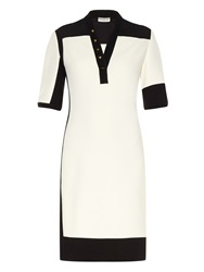 Balenciaga Graphic Line Bi Colour Dress