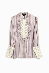 Giambattista Valli Striped Lace Shirt Purple