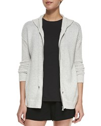 Petite Thermal Zip Front Hoodie Women's H. Cloud Vince