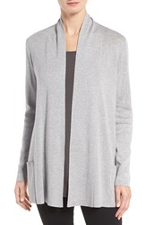 Eileen Fisher Women's Tencel And Organic Cotton Blend Cardigan Dark Pearl