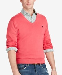 Polo Ralph Lauren Men's Slim Fit V Neck Sweater Pink