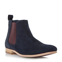 Linea Accessories Coaching Slip On Casual Chelsea Boots Navy