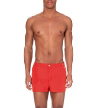 Robinson Les Bains Oxford Court Swim Shorts Red