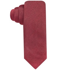 Alfani Red Fall Solid Skinny Tie